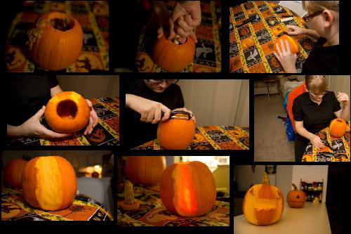 Amateur Pumpkin Carving