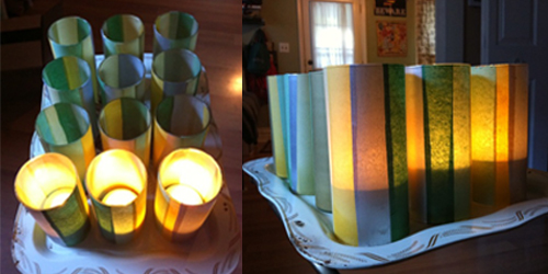 How-to: Tissue Paper Luminaries