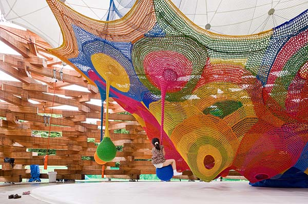 A Crocheted Playground? Yes, I think it is.