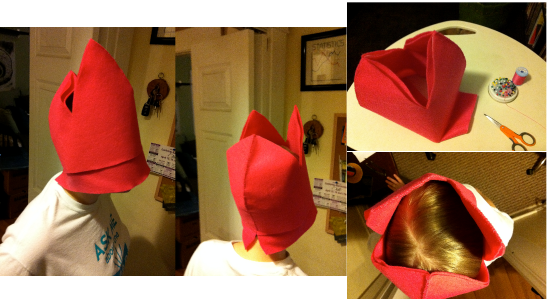 How-to: Louise Hat from Bob's Burgers at handsoccupied.com