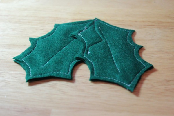 Holly Ornament Made with Fishing Bobbers