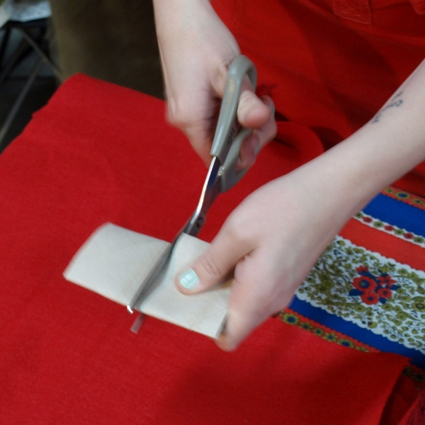 Paper Roll Poinsettia Ornament
