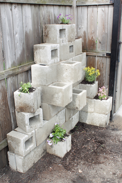 How-to: Cinder Block Planters
