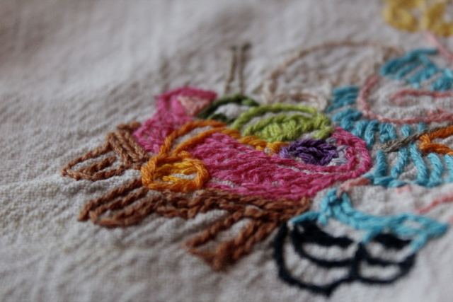 Dish Network Knitting : My family s crafts embroidered antique dish towel