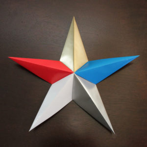 How-to: Patriotic Origami Star