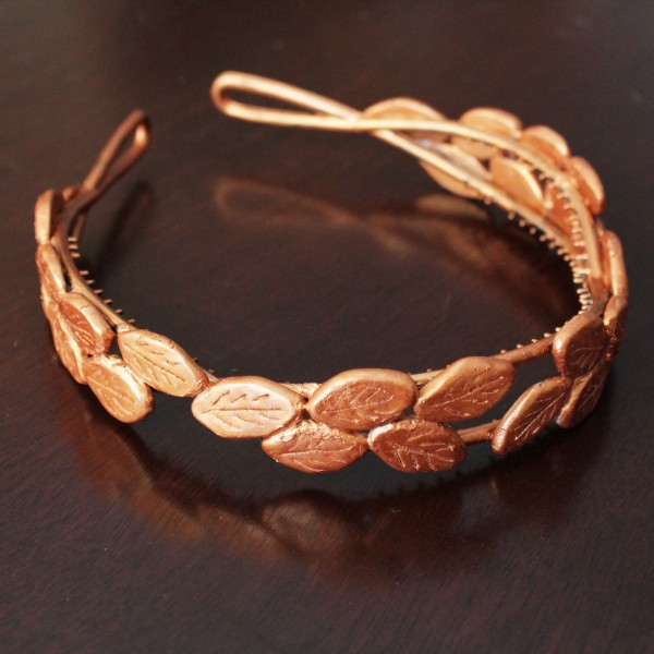 Bronze Laurel Headband DIY at Hands Occupied