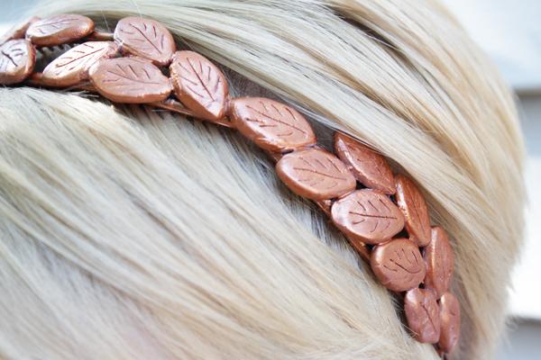 How-to: Bronze Laurel Headband | HandsOccupied.com