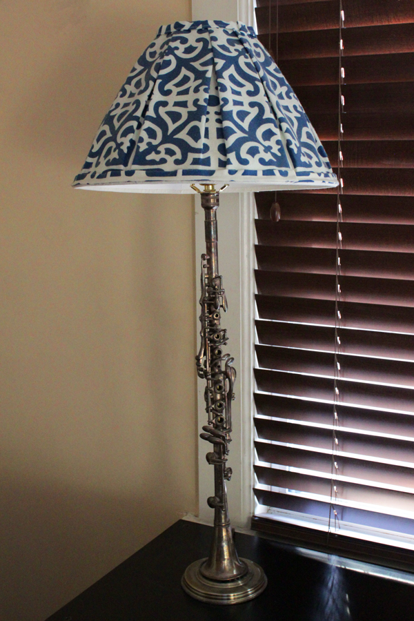 My Family's Crafts: Metal Clarinet Lamp | HandsOccupied.com