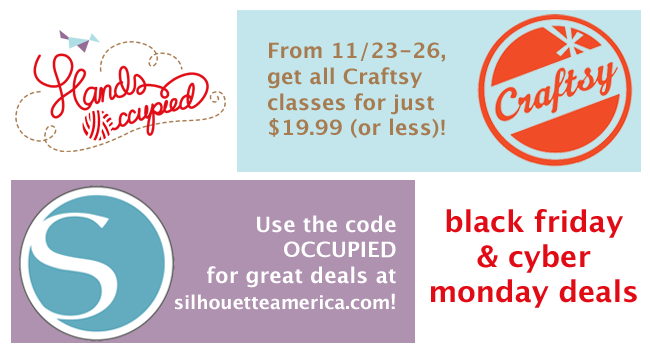Black Friday/Cyber Monday Deals | HandsOccupied.com