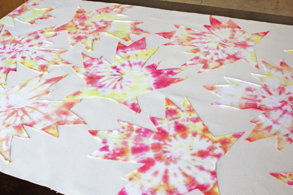 How-to: Autumn Tie-Dye Tablecloth