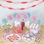 peppermint pinwheel decorations for a party