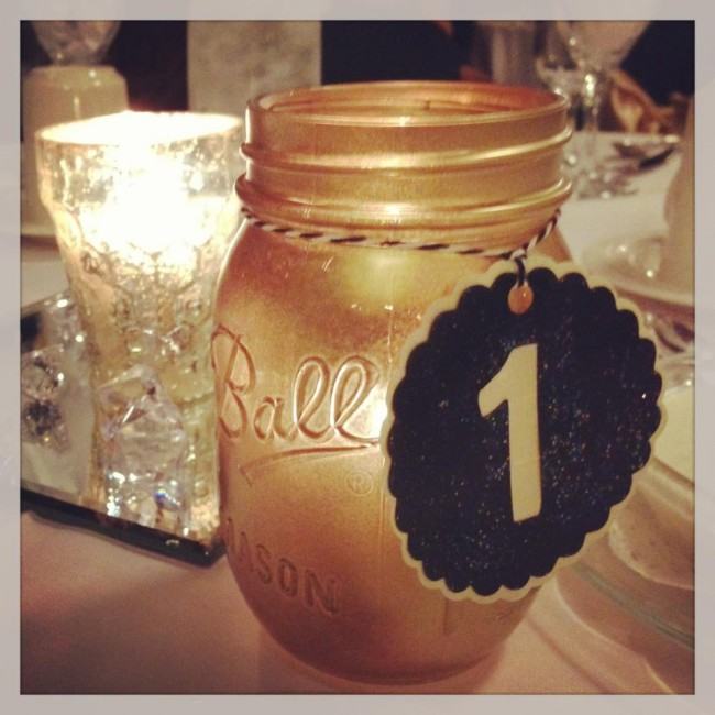 How-to: Black & Gold Wedding Table Numbers | HandsOccupied.com