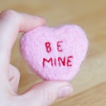 Needle Felted Conversation Heart