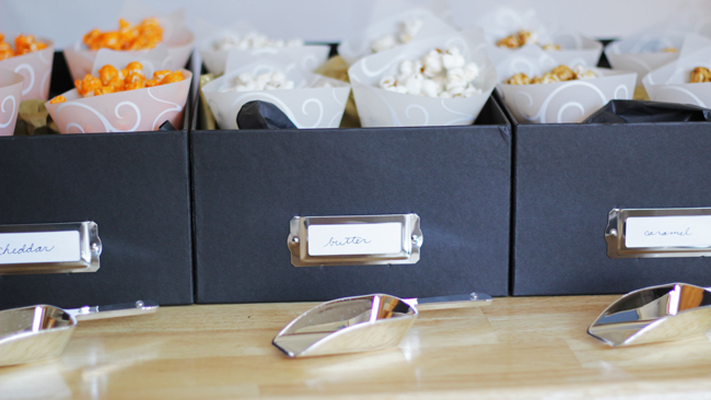 How-to: DIY Popcorn Bar | HandsOccupied.com