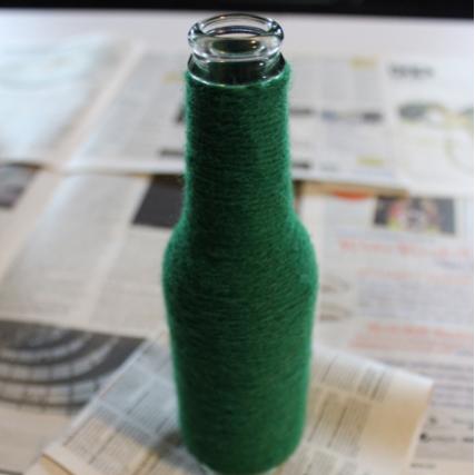 DIY Yarn-Wrapped Bottle