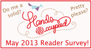 Take the Hands Occupied Reader Survey
