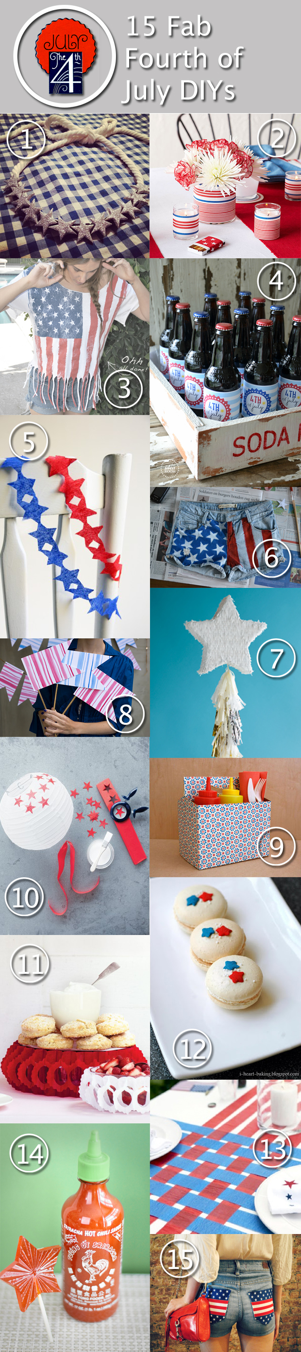 15 Fab Fourth of July DIYs - HandsOccupied.com