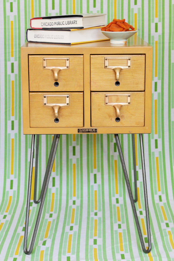 How-to: Card Catalog End Table at HandsOccupied.com