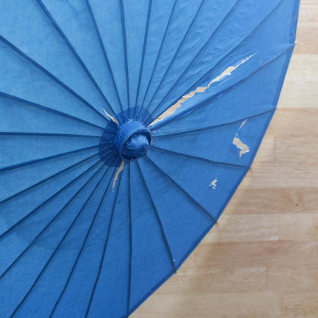 How-to: Dotted Parasol Makeover - HandsOccupied.com