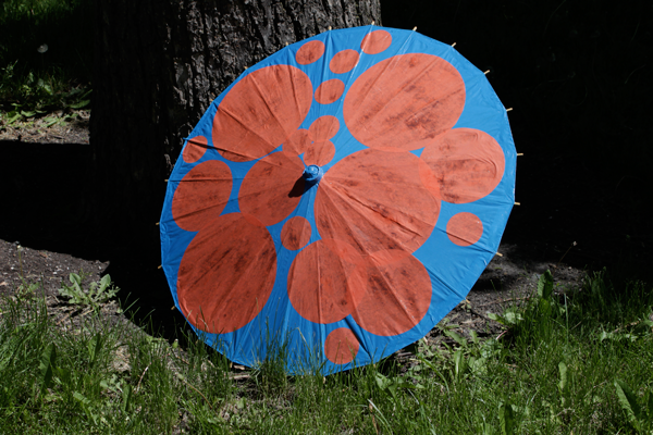How-to: Dotted Parasol Makeover