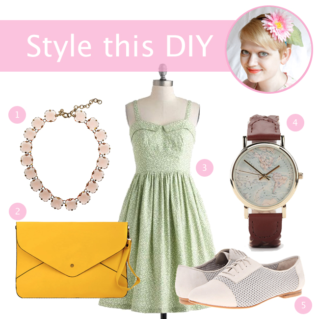 Style this DIY: Flower Headband | Hands Occupied