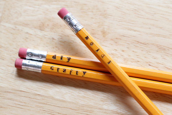 How-to: Simple Stamped Pencils | Hands Occupied