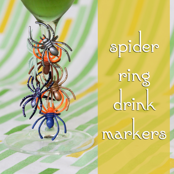 How-to: Spider Ring Drink Markers - Hands Occupied