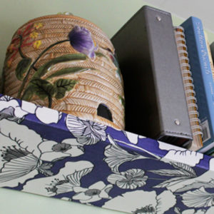 How-to: Fabric Covered Shelves
