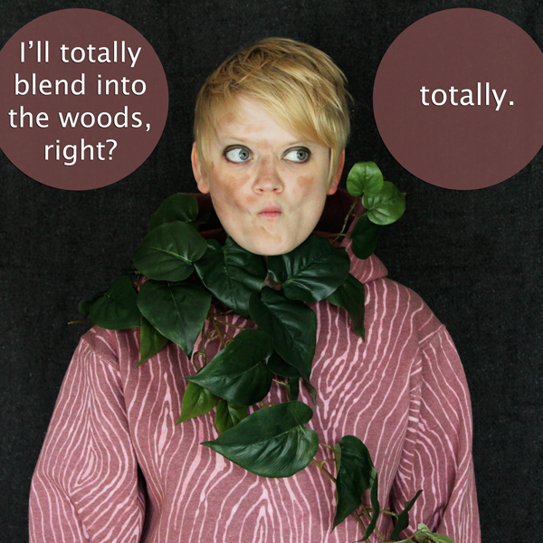 How-to: Faux Bois Sweatshirt & Tree Costume - Hands Occupied