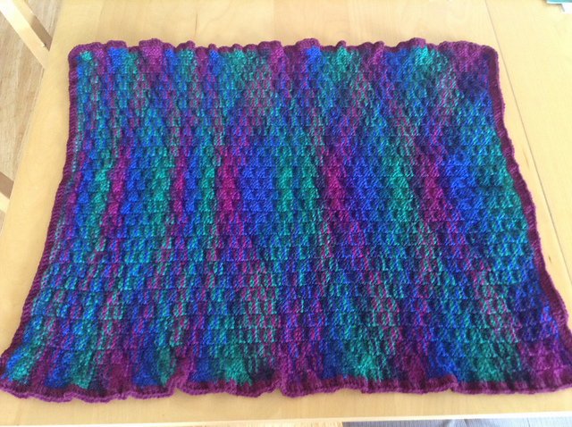 @lornaparsons Basketweave Baby Blanket