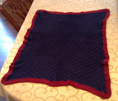 momto3dogs's Basketweave Baby Blanket