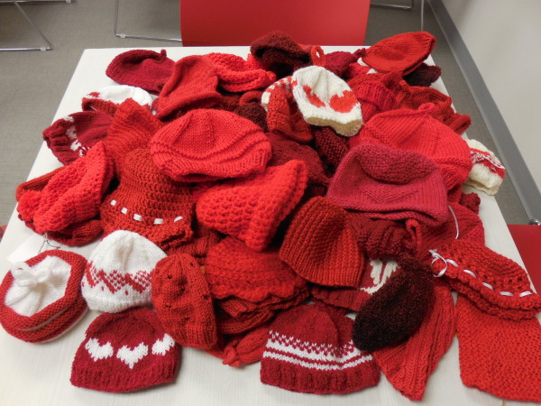 Red Heart Hats by the St. Louis Knitting Guild