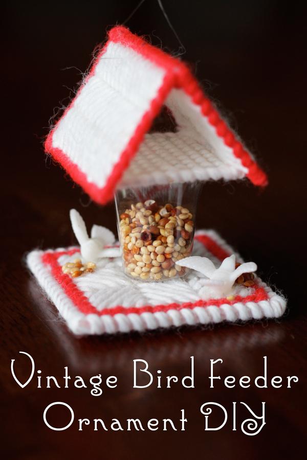 How-to: Vintage Bird Feeder Ornament DIY | Hands Occupied