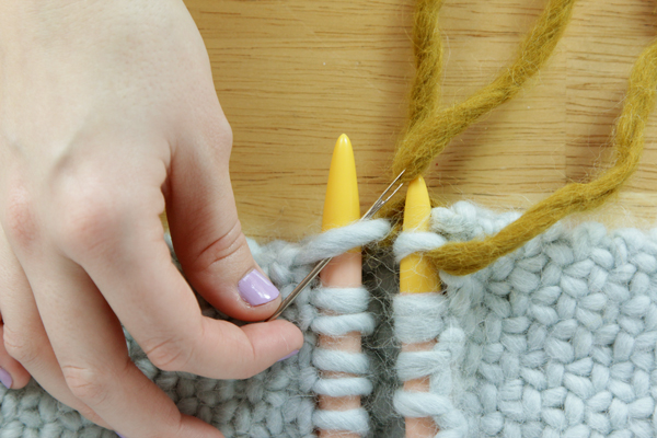 How to Graft Knitting Ends / Kitchener Stitch