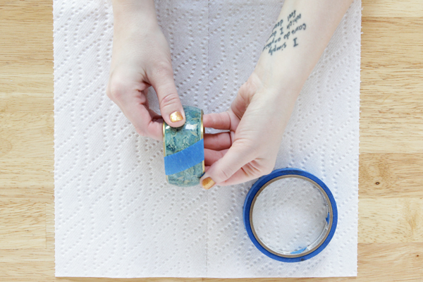 DIY Color Blocked Glitter Bangle - An Easy Mod Podge craft project!