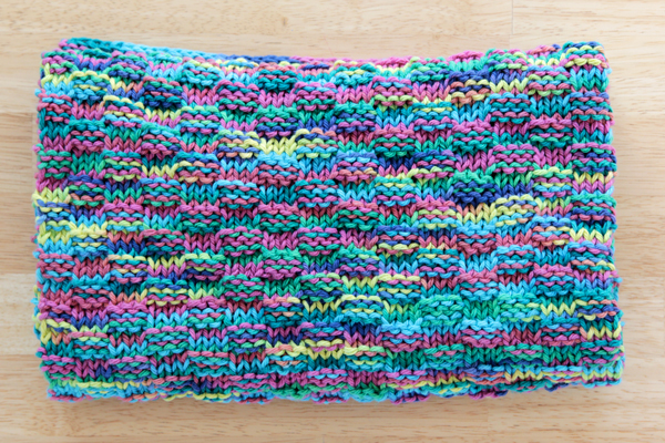 Simple Basketweave Baby Blanket - Free Knitting Pattern at Hands Occupied