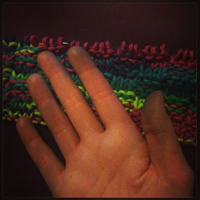 These Colors Won't Run: How to set yarn color at Hands Occupied