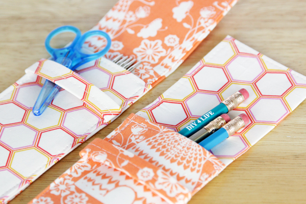 Knitting Needle (or Pencil) Case DIY at Hands Occupied