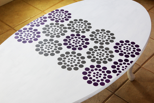 Stenciled Coffee Table Makeover at Hands Occupied