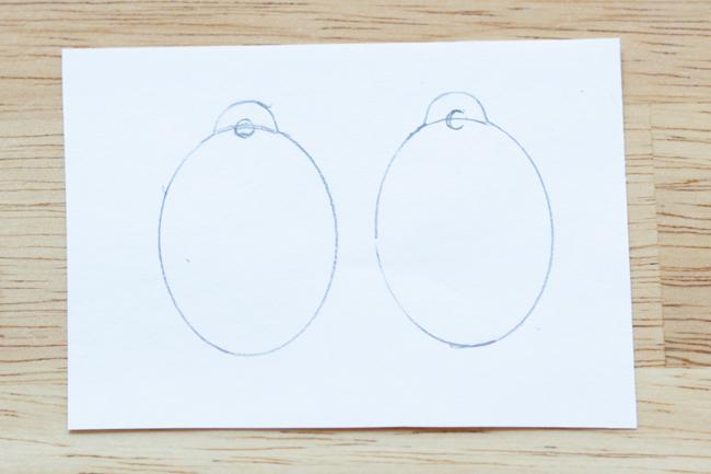 Dimensional Easter Egg Earrings DIY