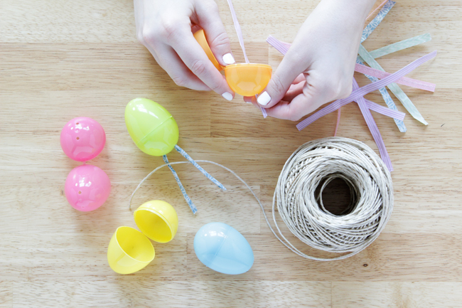 Easter Egg Garland at Hands Occupied