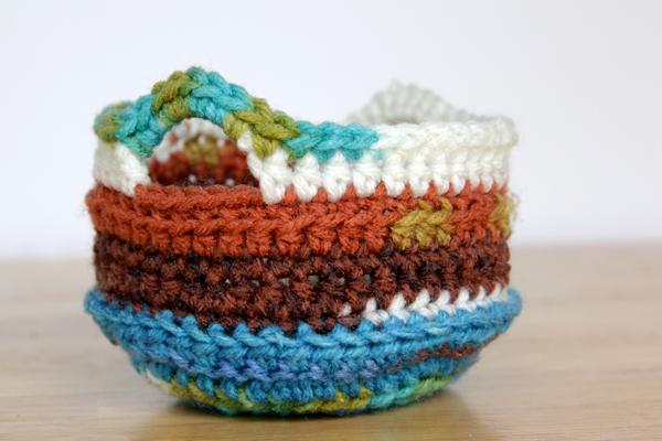 Crochet Trinket Basket - Hands Occupied
