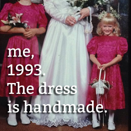 Heidi as a flower girl in 1993 at www.handsoccupied.com