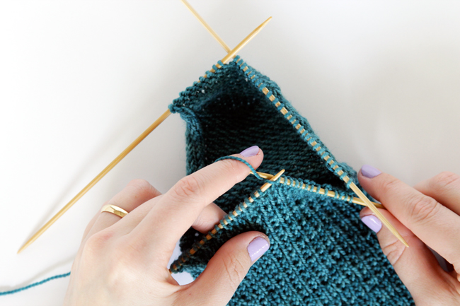 Knit Along Day 4: The Gusset at Hands Occupied