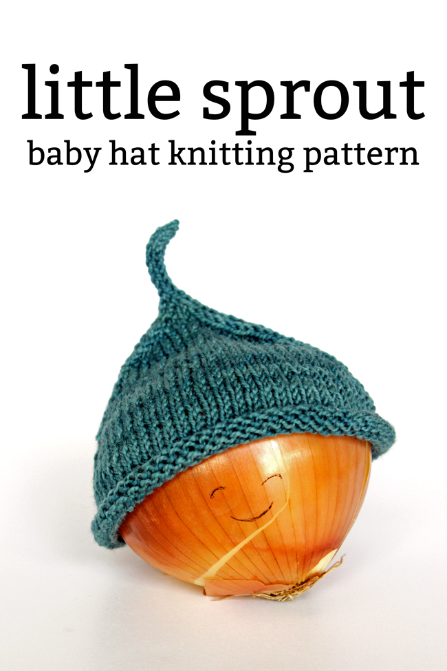 Little Sprout Baby Hat Knitting Pattern at handsoccupied.com