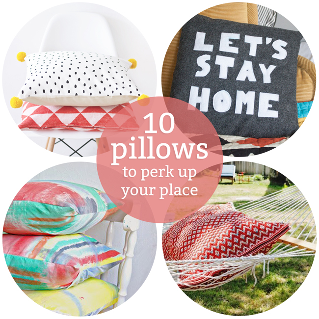 10 DIY Pillows to Perk Up Your Home | www.handsoccupied.com