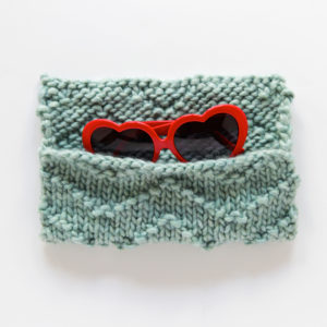 Chevron Sunglasses Case Knitting Pattern