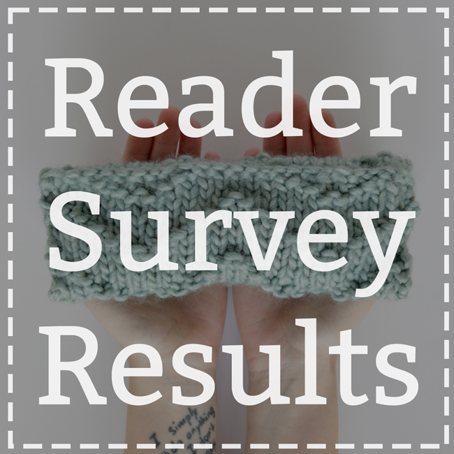 Reader Survey Results (& Giveaway Winners!) at handsoccupied.com