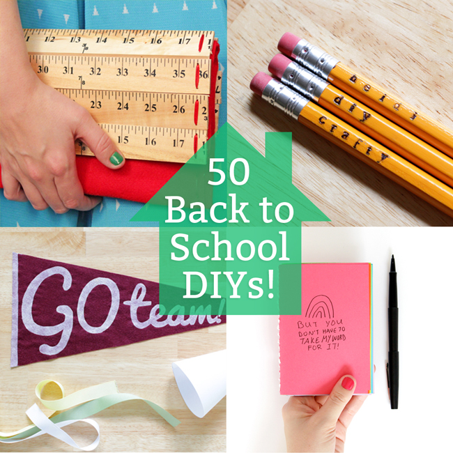 50 Back to School DIYs at handsoccupied.com