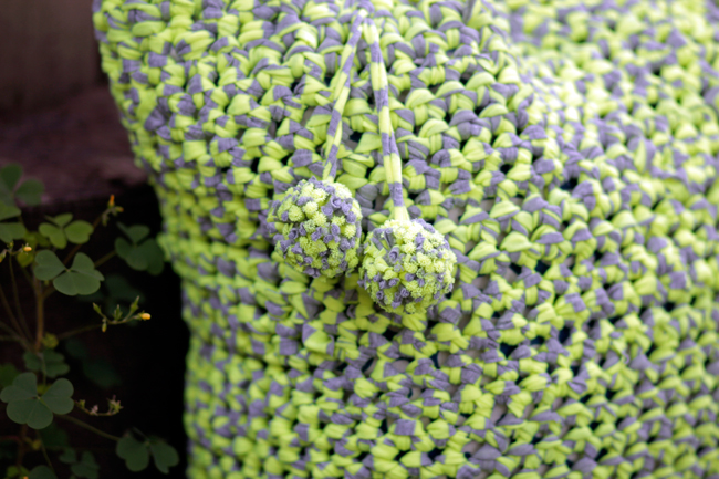 Crochet T-shirt Yarn Tote Pattern at HandsOccupied.com